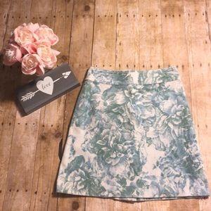 Anthropologie Elevenses Floral Print Skirt- Size 6